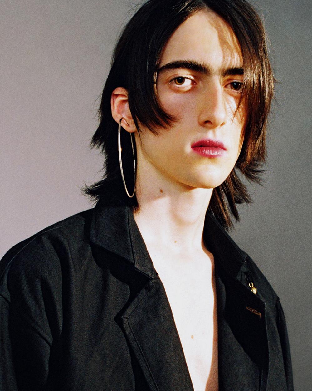Jacket Yohji Yamamoto, earring stylists own