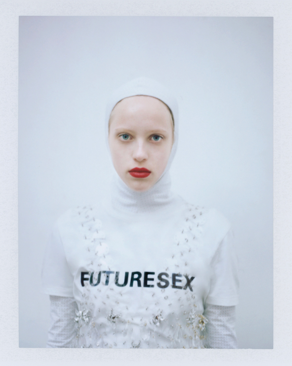 Tassel dress, hooded long sleeves top & t-shirt 'Futuresex' by Paco Rabanne.