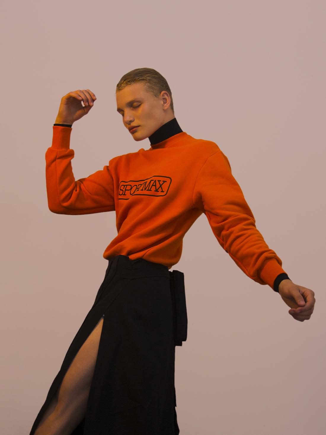 Shirt & jumper Sportmax & skirt Céline.