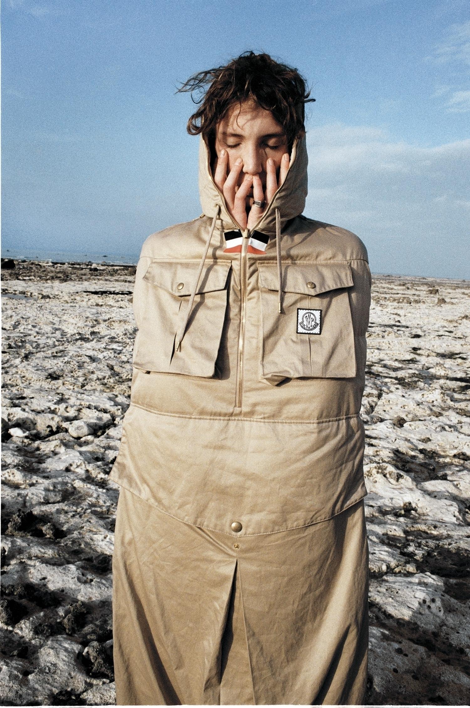 Sleeping bag coat by Moncler Gamme Bleu.
