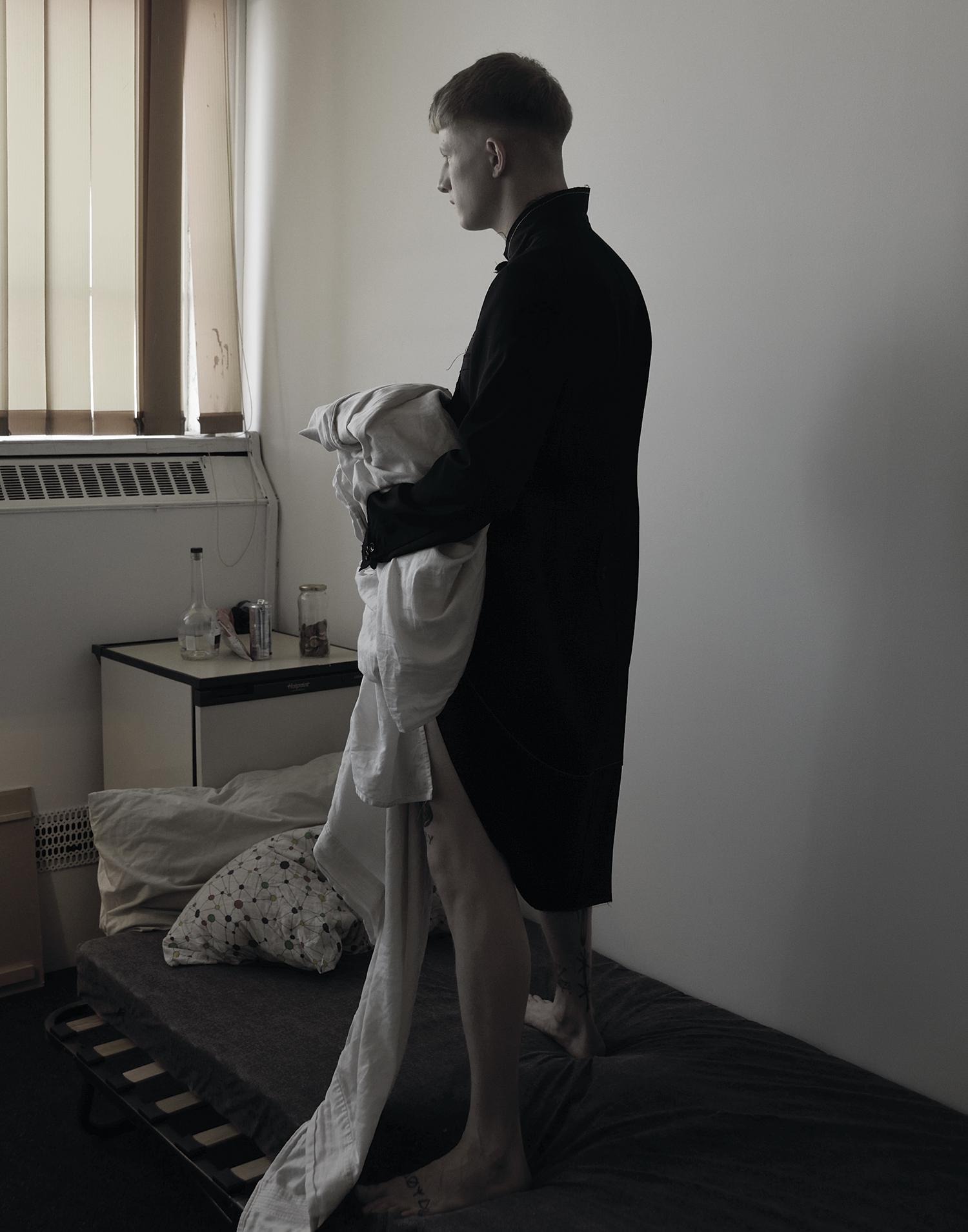 Jacket by Comme des Garçons Homme Plus.