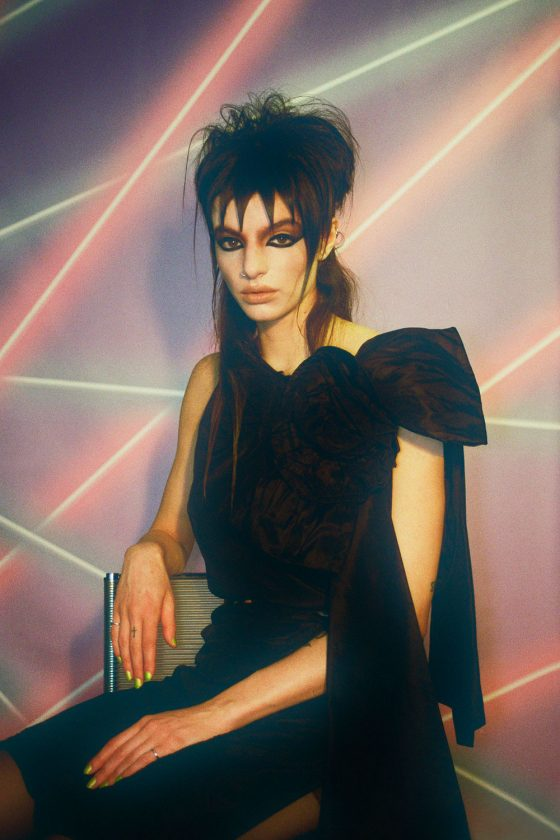 Roberta Di Lillo. Full look by Miu Miu