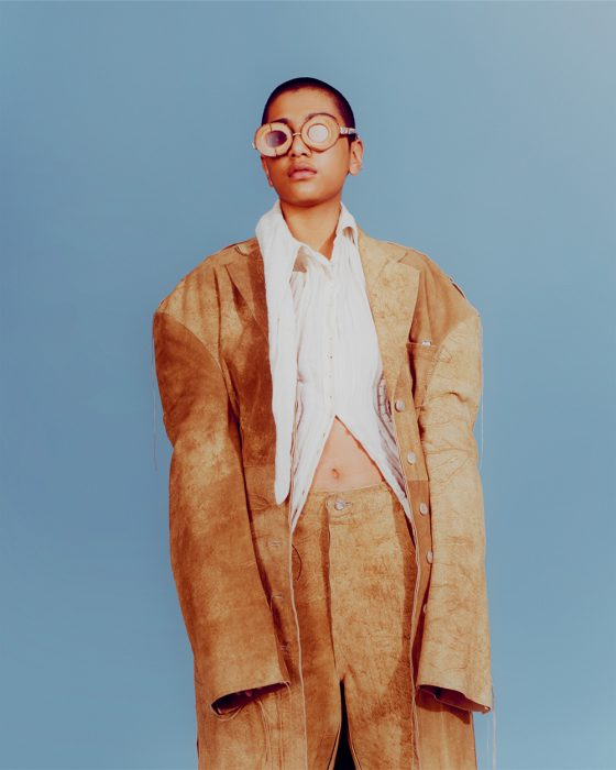 Ash wears all clothes by Acne Studios